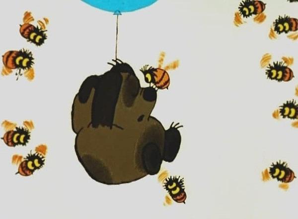 А ведь пчелы действительно неправильные... Винни-Пух, Неправильные пчелы, Мед, Советские мультфильмы