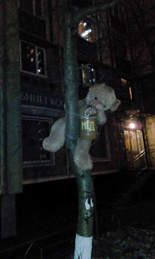 Плюшевая жуть Медведь, Мед, Мягкая игрушка, Плюшевый медведь, Дерево
