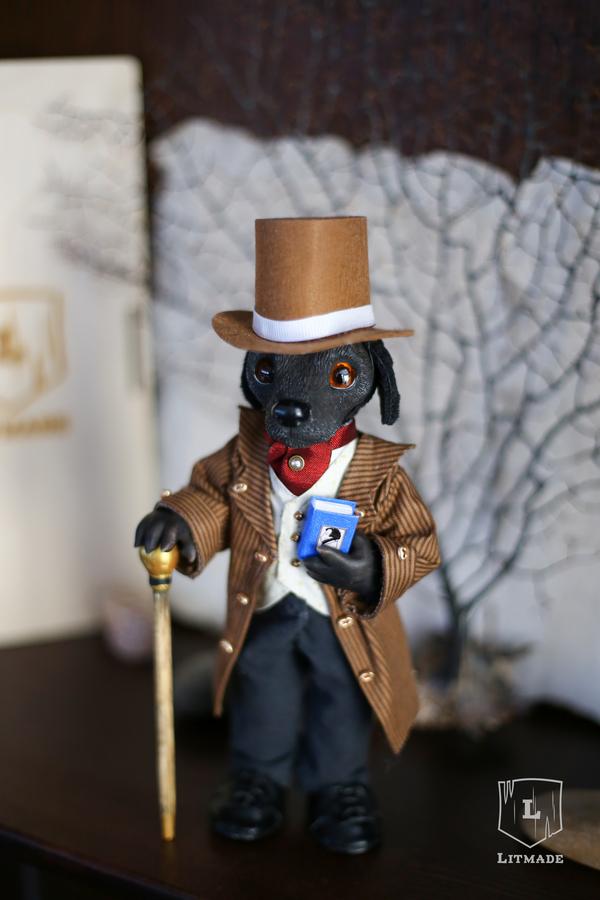 Лорд Лабрадор. Кукла, ручная работа, лабрадор, полимерная глина, litmade, длиннопост