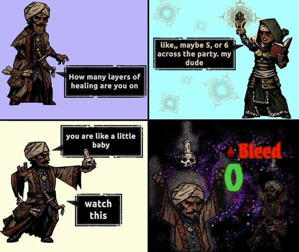 Вот всегда так с оккультистом. Darkest dungeon, Оккультизм, Occultist, Компьютерные игры, RPG, Закон подлости