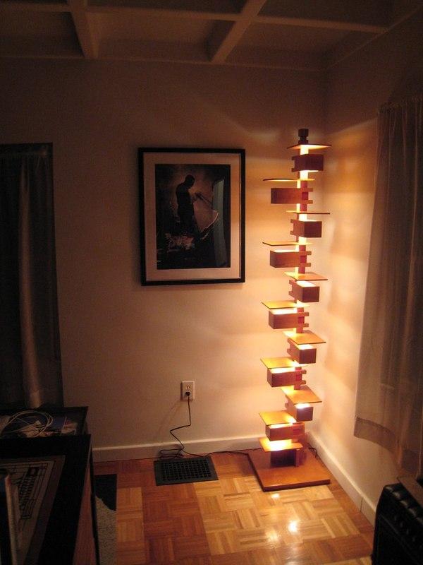 Продолжение моих усилий не работать на Дядю! из фанеры, своими руками, длиннопост, освещение, светильник, Лампа, видео