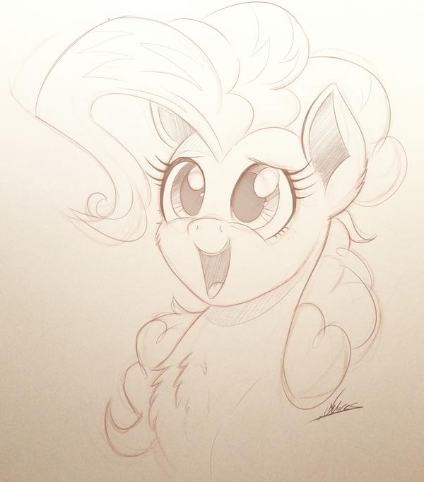 Pinkie Sketchage My Little Pony, ponyart, Pinkie Pie, скетч