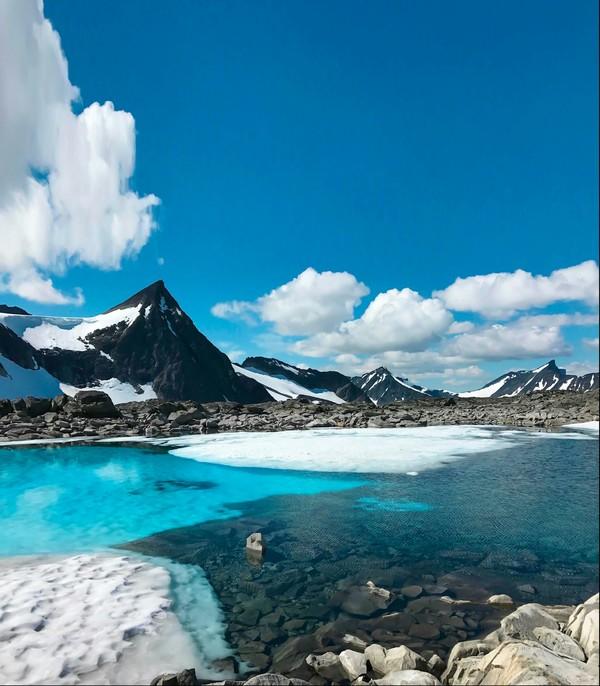 """Природный """"бассейн"""" в Йотунхеймене, Норвегия"""
