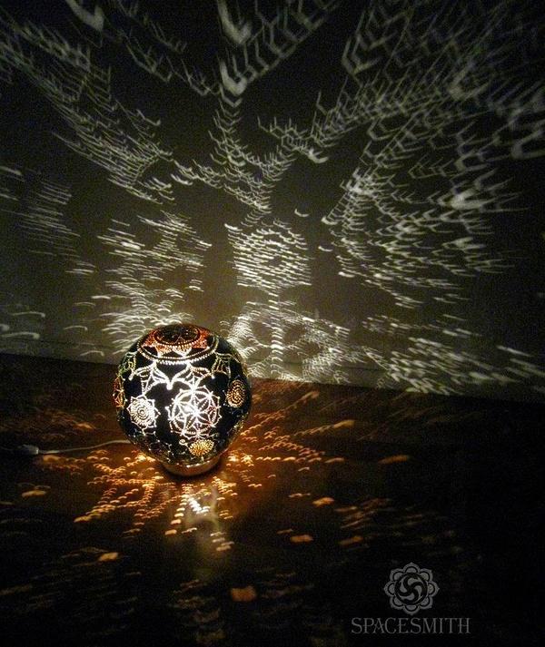 Мячик - мандала:) Наш фонарик из 2015 года моё, лампа, ночник, творчество, арт, handmade, рукоделие без процесса