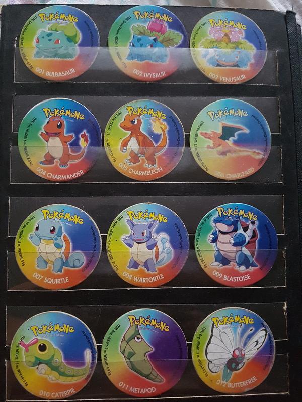 Моя детская коллекция ностальгия, кэпсы, фишки, покемоны, длиннопост