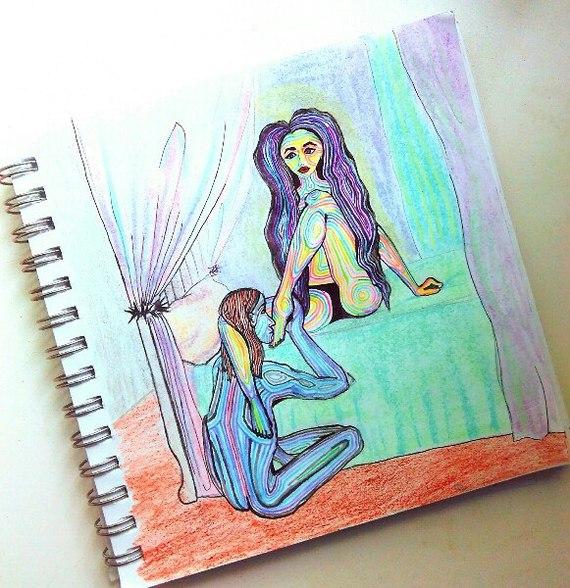 Иисус и Магдалина. Прелюдия. религия, искусство, иисус, магдалина, рисунок карандашом, рисунок ручкой, антирелигия, сексуальная революция