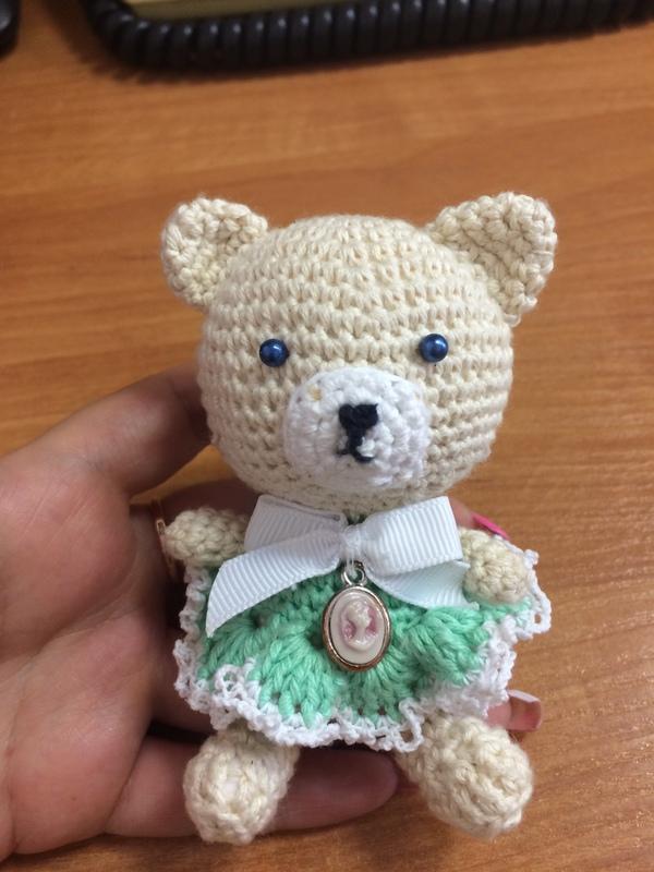 Пятничное мое - вязаный Мишка (амигуруми) моё, пятничный тег моё, рукоделие без процесса, вязаные игрушки, медведь