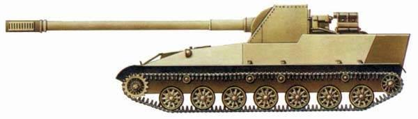 Самоходная артиллерийская установка СУ-152П Вооружение, Техника, Артиллерия, Объект 116, Су-152п, Длиннопост