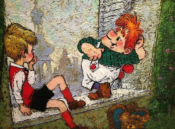 """""""Малыш и Карлсон"""" иллюстрации Анатолия Савченко, 1968 год. мультфильм, Малыш и Карлсон, рисунок, Интересное, творчество, иллюстрации, прошлое, 20 век, длиннопост"""