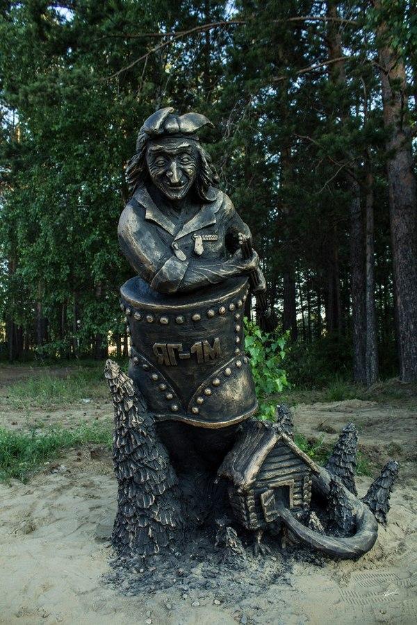 Сказочные скульптуры в г. Саянске русские сказки, скульптура, саянск, доброта, по мотивам поста, длиннопост
