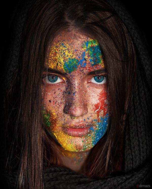 Портрет Портрет, фотография, краски