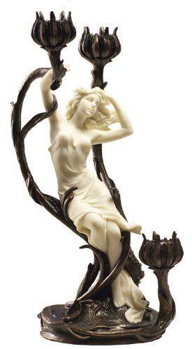 Канделябр Канделябр, скульптура, смола, девушки, Картинки