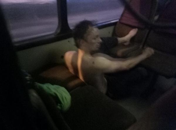 Когда очень устал Алкоголизм, Автобус