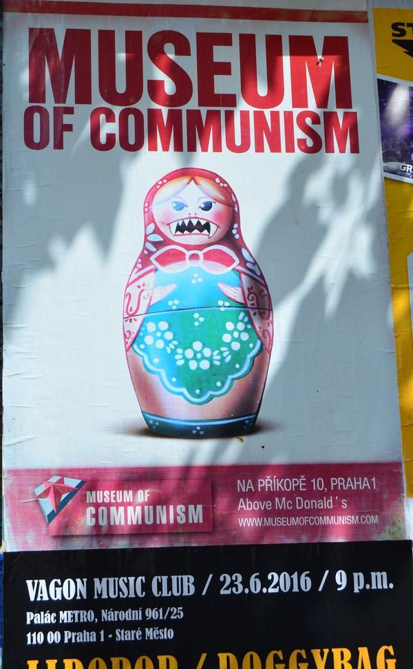 """""""Добрый"""" коммунизм Прага, Коммунизм, пропаганда, плакат, развеситсая клюква, длиннопост"""