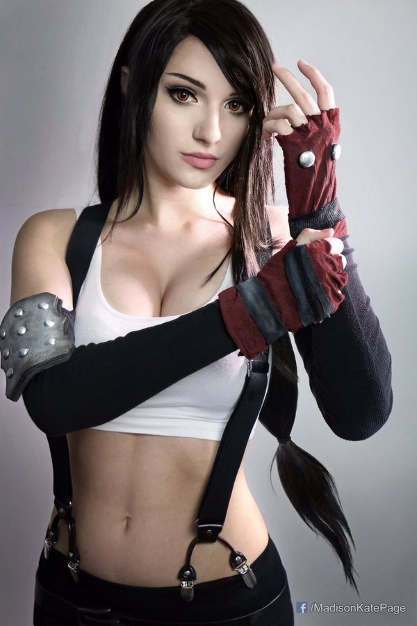 Cosplay Tifa Lockhart (Final Fantasy VII) Tifa Lockhart, Final Fantasy VII, Косплей, грудь, декольте, длиннопост