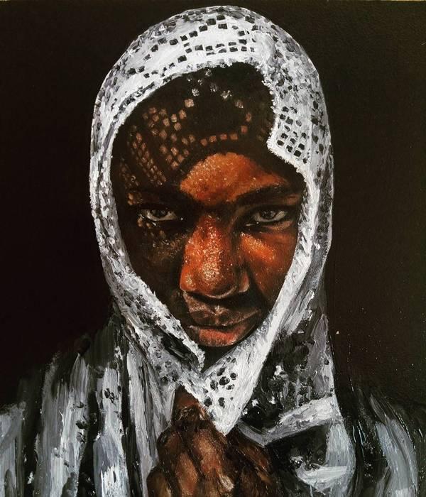 Tosin Портрет, картина маслом, Живопись, афроамериканцы