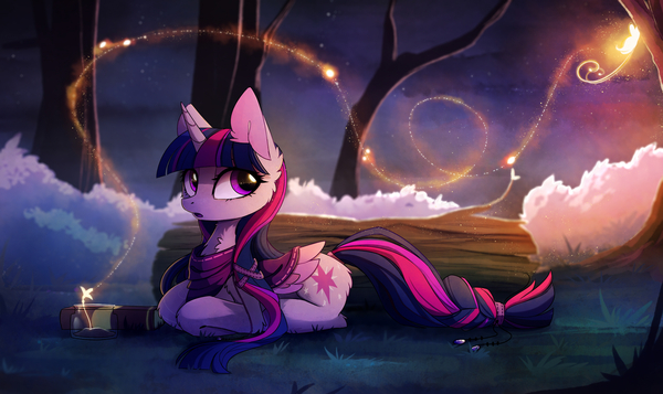 Magic Forest My Little Pony, ponyart, Twilight Sparkle, MagnaLuna