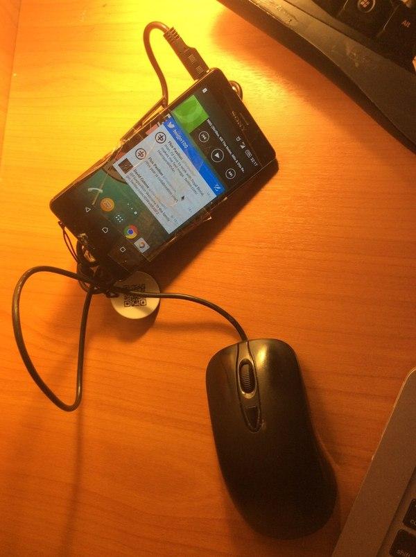 Когда нету денег на ремонт, но у тебя Андроид разбил экран, Sony Z3 Compact, мышь, колхоз, длиннопост
