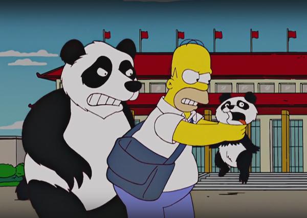 Гомер и панды. симпсоны, Гомер Симпсон, панда, длиннопост