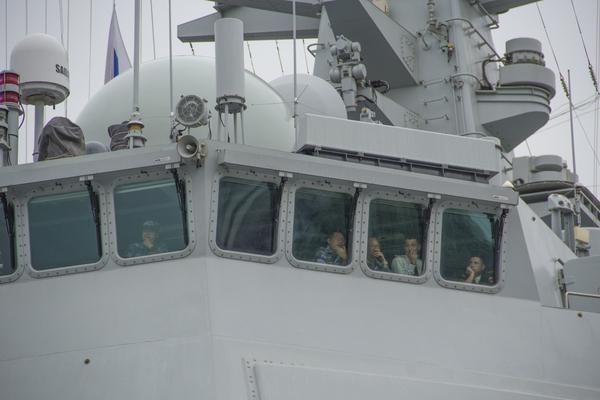 Эскадренный миноносец типа 052D He fei в Питере 29.07.17 Корабль, китайцы, парад, длиннопост