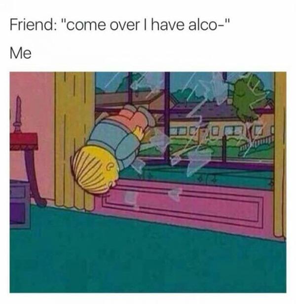 В пятницу вечерком алкоголь, симпсоны
