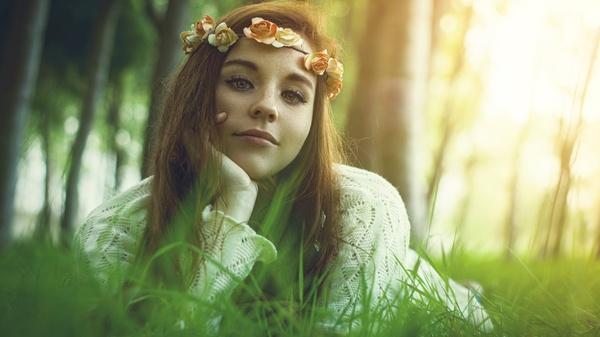 Миленькая Девушки, Фотография, Улыбка, Природа, Подборка