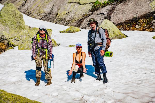 Немного летнего снега Ергаки, лето, Снег, наше путешествие