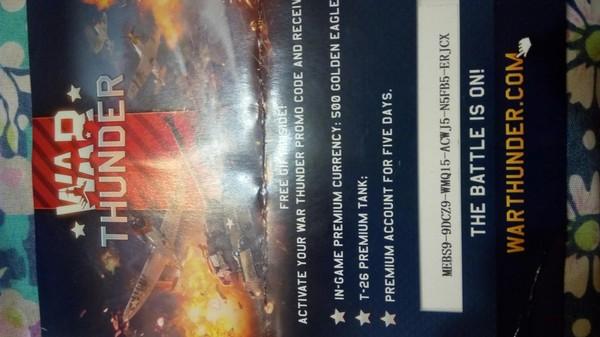 Бонус-код War Thunder. War Thunder, Бонус-Код