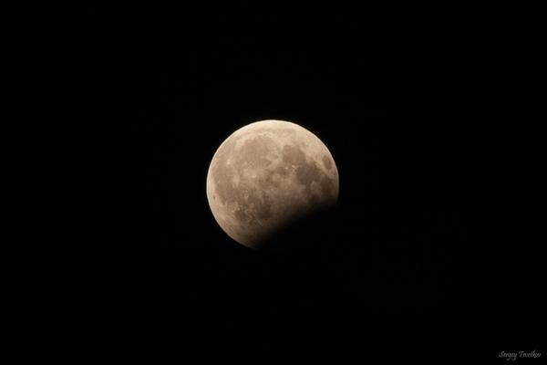 Частичное лунное затмение 7 августа Моё, затмение, фотография