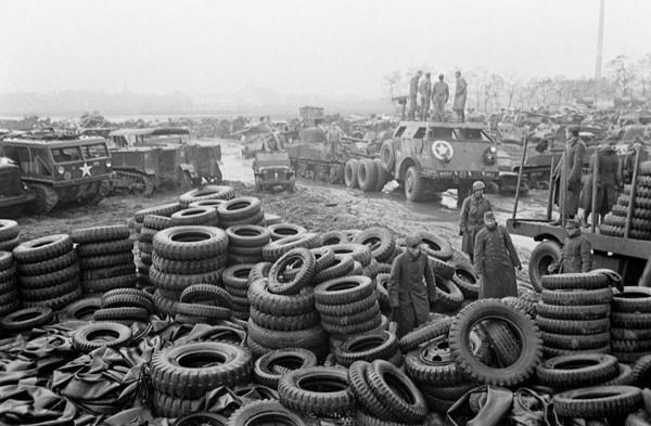 Куда делась американская военная техника после войны? Америка, США, техника, военная техника, армия США, машина, вторая мировая война, океан, длиннопост