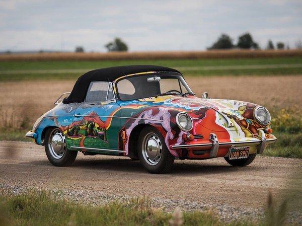 Ретроавтомобиль. 1964 Porsche 356C Cabriolet Дженис Джоплин* ретроавтомобиль, ретро фото, прошлое, 20 век, дженис джоплин, певица, Porsche, аэрография, длиннопост