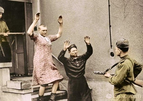 """""""Захват в плен Гитлера и Евы Браун"""" Юмор, Победа, Великая Отечественная война, Адольф Гитлер, фотография, Чтобы помнили"""