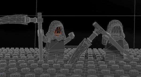 Еще 1 способ рисовать косарей косари, lego, 3ds max, моё