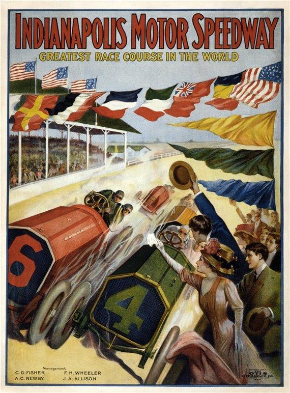 Кинохроника: первая официальная гонка Инди 500, 30 мая 1911, с поясняющими субтитрами (на английском). Формула, Инди, Авто, Автоспорт, Спорт, Видео, Кинохроника, История, Длиннопост