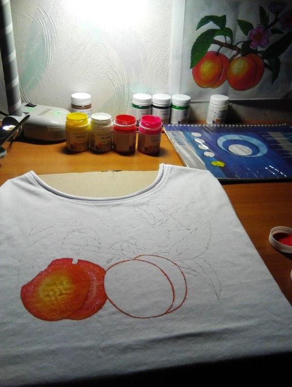 Футболки с ручной росписью Роспись по ткани, футболка, арт, творчество, handmade, моё, рукоделие, рукоделие без процесса