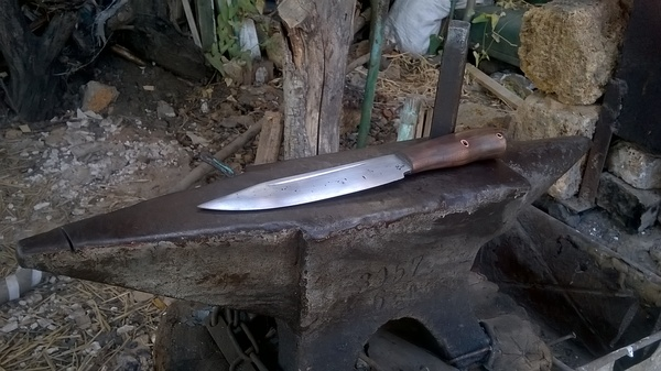 """Нож """"Какой-то"""" Нож, моё, дерево, как-то так, длиннопост"""