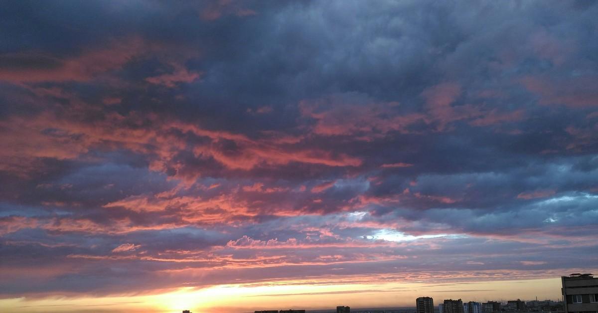 Фото закат в тольятти