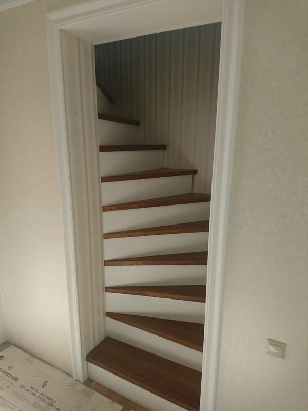 Лестница лестница, винтовая лестница, дом, лиственница, МДФ, длиннопост