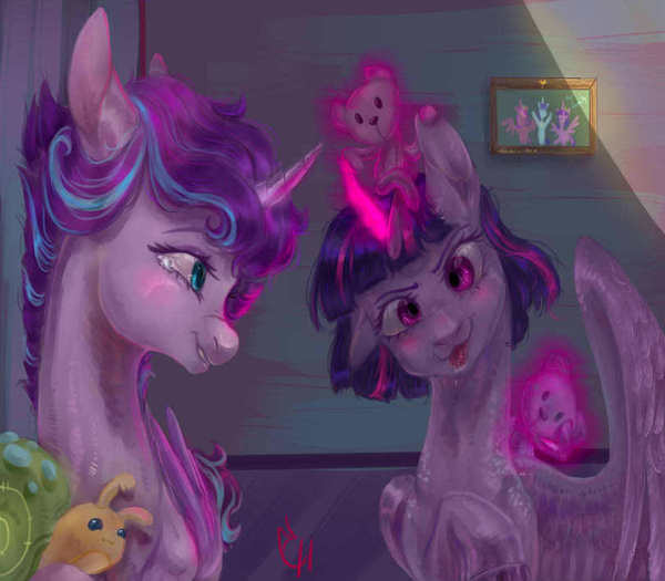 Вспоминая детство. my little pony, Twilight Sparkle, Flurry Heart