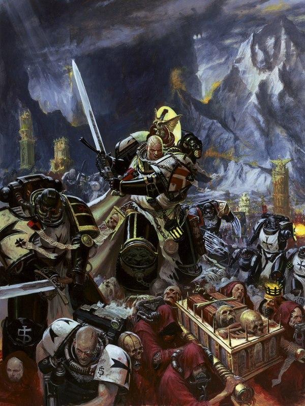 Чёрные Храмовники - перевод из кодекса Космодесанта 8 редакции Warhammer 40k, wh back, Black Templars, длиннопост