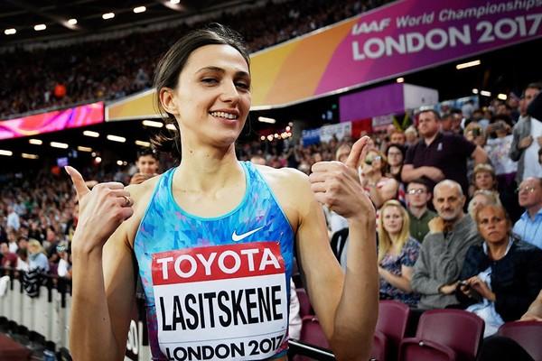 Россиянка Мария Ласицкене (Кучина) выиграла золото в прыжках в высоту на чемпионате мира по легкой атлетике в Лондоне Мария Ласицкене, Чемпионат мира, Прыжки в высоту, Легкая атлетика, Девушки, Гифка, Спорт