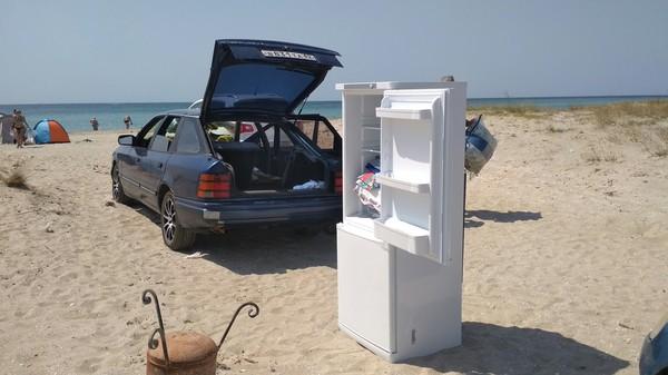 Красиво отдыхать не запретишь! Крым, Черное море, холодильник, пляж, лето
