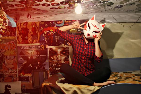 Мой первый МК по созданию маски. (Видео) маска, рукоделие с процессом, видеоуроки, мастер-класс, кицунэ, аниме, длиннопост, ручная работа, видео
