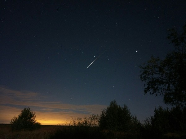 Большая Медведица звездопад, звездное небо, Выдержка