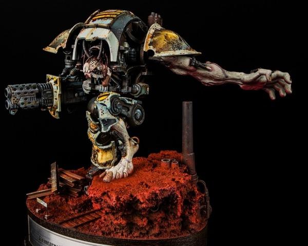 Karol Rudyk закончил работу над своим рыцарем Warhammer 40k, wh miniatures, Imperial knight, хаос, длиннопост
