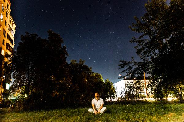 Персеиды, а-уу! selfie, звездное небо, длинная выдержка, персеиды, не пришли