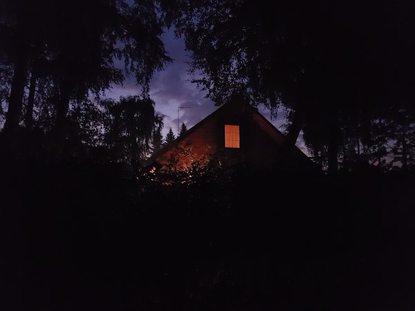 Ночная дача фотография, ночь, дом, освещение, красота
