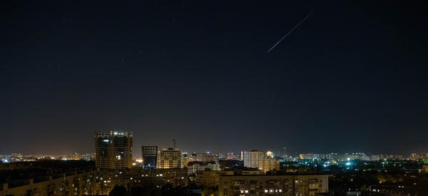Тщетные попытки снять звездопад персеиды над городом Краснодар, звездопад, Метеорный дождь Персеиды, ночной город, звездное небо, olympus