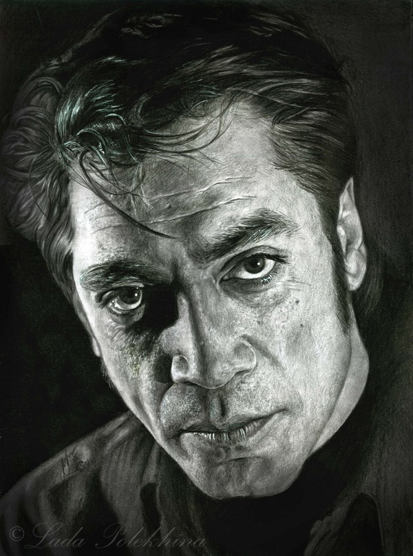 Портрет простым карандашом. Хавьер Бардем. моё, рисунок, портрет, Хавьер Бардем, графика, карандаш