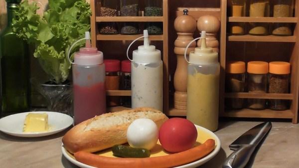 Хот-дог с карамелизированным луком (пошаговый рецепт с фото + видео) еда, хот-дог, кулинария, фастфуд, рецепт, видео, длиннопост
